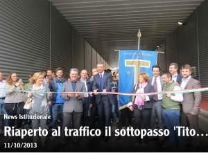 Inaugurazione del sottopasso Tito Acerbo - 12.10.2013